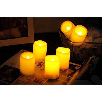 Candle Idea Flameless Votives with Timer, LED Votive, Battery Included, Long Battery Life, Battery...
