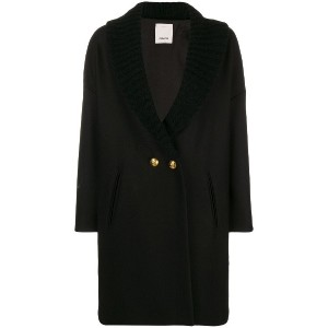 Pinko double breasted coat - ブラック