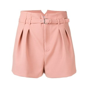 Red Valentino belted shorts - ピンク&パープル
