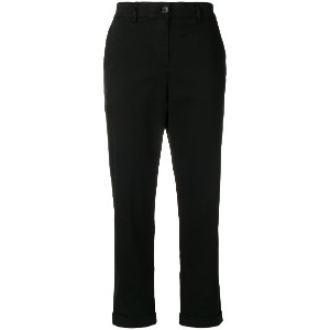 Ps By Paul Smith slim fit turn up trousers - ブラック