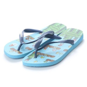 【SALE 20%OFF】ハワイアナス havaianas MARIO BROS (kids sizes) (blue splash)