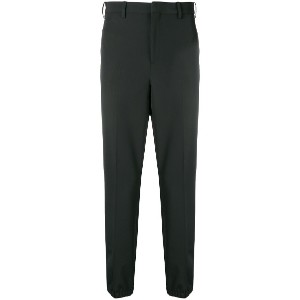 Neil Barrett high waisted tapered trousers - ブラック