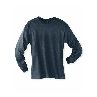 Hanes 5186 Adult Beefy T Long Sleeve T-Shirt Size XL, Smoke Gray
