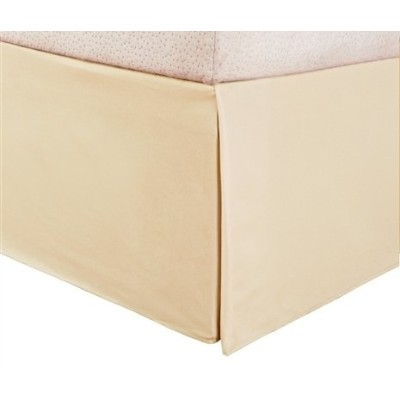 (King, Cream) - Hotel Luxury Bed Skirt/Dust Ruffle 1800 Platinum Collection-SALE TODAY ONLY on...