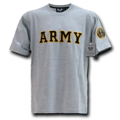 Rapid Dominance R17-ARM-HGR-03 Applique Text T-Shirt44; Army44; Grey44; Large