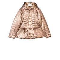 Baby Dior TEEN hooded padded jacket - メタリック