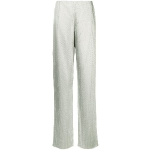 Ralph Lauren Collection crystal embellished straight trousers - メタリック