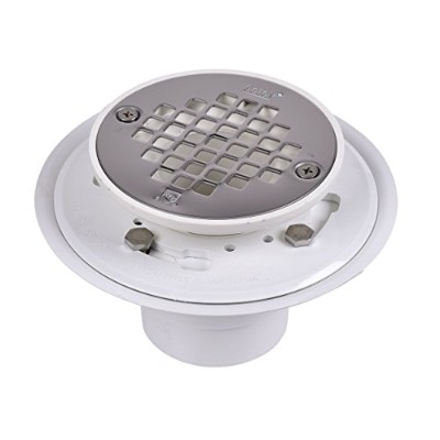 Oatey 42213 PVC Drain with Stainless Steel Strainer for Tile Shower Bases, 2-Inch or 3-Inch by Oatey