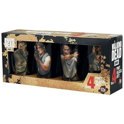 (Standard) - The Walking Dead Characters Set Pint Glass multicolour