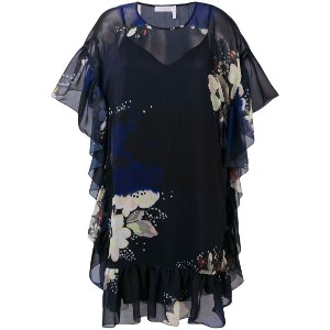 See By Chloé ruffle trim dress - ブルー