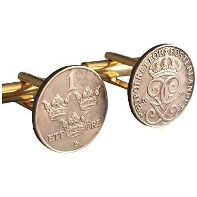 Authentic 1 OreスウェーデンCoin Cufflinks