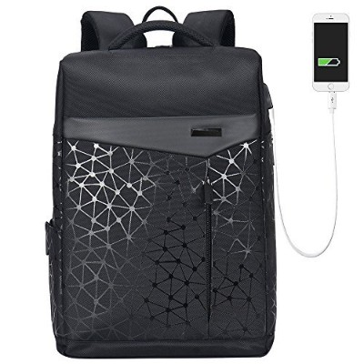 Aoking Top Stylish Squareバックパックfor College 2018Urban Laptop Anti Theft Backpack with USBポート...