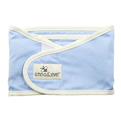 Anna & Eve Swaddle Strap Arms Only Baby Swaddle, Blue, Small by Anna & Eve
