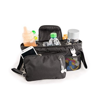 Stroller Organizer (Universal Fit, Black) by Totstuff by TotStuff