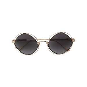 Chrome Hearts round frame sunglasses - メタリック