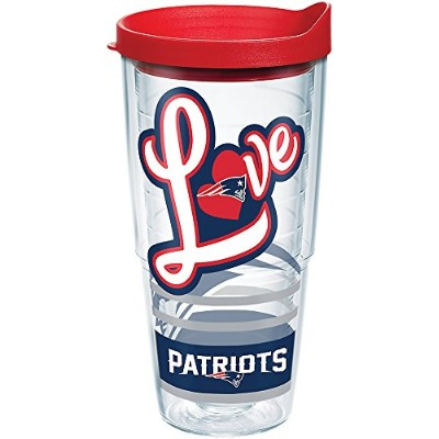 Tervis 24オンス新しいEngland Patriots Love Tumbler with Lid 24オンスタンブラー