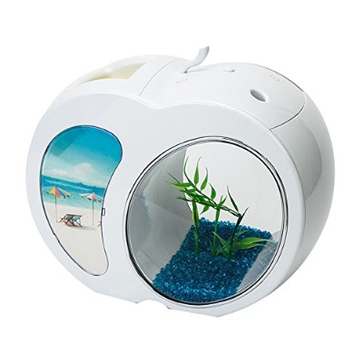 [KEM]Pet Fish Bowl Acrylic Desk top Table Aquarium Tank with USB Powered LED Light [KEM]ペットの魚のボウルアクリ...
