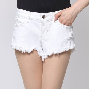 【SALE 50%OFF】ゲス GUESS KATE CUTOFF WHITE DENIM SHORT (WHITE OVERDYED DESTROY WASH)