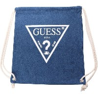 ゲス GUESS Originals WHITE TRIANGLE LOGO DENIM KNAPSACK (MEDIUM BLUE)【JAPAN EXCLUSIVE ITEM】(ゲス オリジナルス...