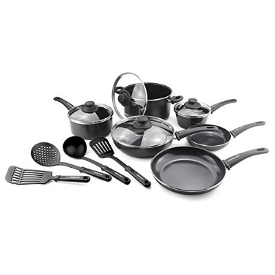 GreenLife Soft Grip 14pc Ceramic Non-Stick Cookware Set (並行輸入品)