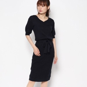 【SALE 30%OFF】ルーミィーズ  Roomy's OUTLET ハートネック半袖OP (ネイビー)