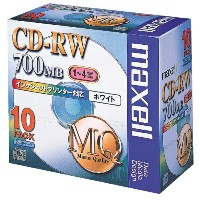 マクセル CD-RW 700MB 1-4x ホワイトレーベル 10枚