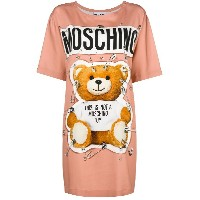 Moschino Teddy bear T-shirt - ピンク&パープル