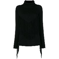 P.A.R.O.S.H. fringed roll neck sweater - ブラック