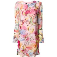 Boutique Moschino floral longsleeved dress - ピンク&パープル