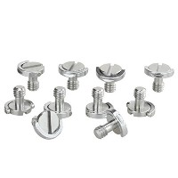 "Haoge 1 / 4 "" - 20 Dリングステンレススチールマウントfixing screw forカメラ三脚一脚クイックリリースプレート( Pack of 10 )"