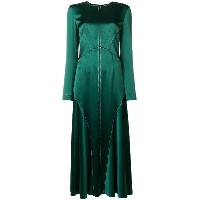 Cédric Charlier flared midi dress - グリーン