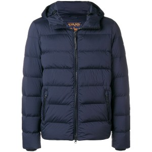 Woolrich hooded puffer jacket - ブルー