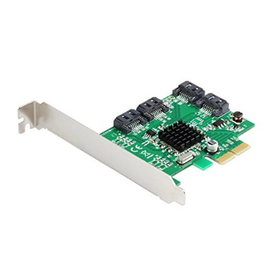 HENXUN 4-port SATA III PCI-e Version 2, PCI-e x2 Slot Controller Card, HyperDuo, Software RAID,...