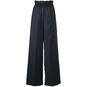 Semicouture paperbag waist trousers - ブルー