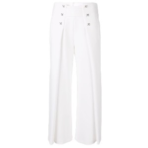 Genny flared cropped trousers - ホワイト