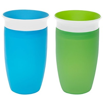 Munchkin Miracle 360 Sippy Cup, Green/Blue, 10 Ounce, 2 Count by Munchkin