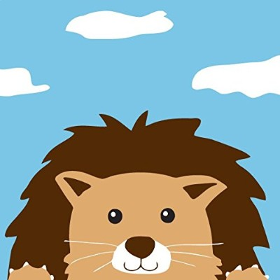 """Dorara DIY油絵、ペイントby Numberキットfor Kids Lion King 8"""" x 8"""""""