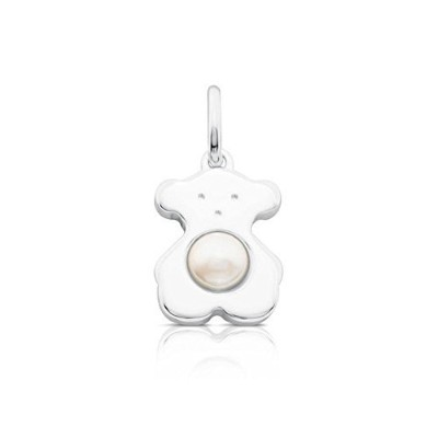 TousスターリングシルバーSweet Dolls Bear with Fresh Water Cultured Pearl Smallペンダント