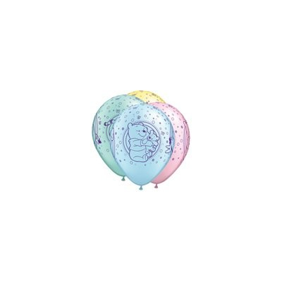 11 Assorted Latex Balloons Pooh Baby Characters by Qualatex