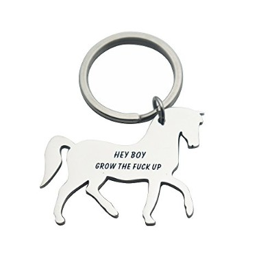 huiuy Personalized Horseペンダントキーチェーン2018卒業式ジュエリーEquestrianギフトキーチェーンに彼女彼の友人
