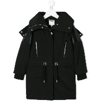 Givenchy Kids technical parka coat - ブラック