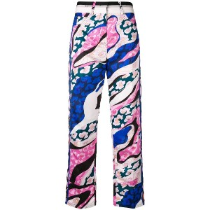 Emilio Pucci cropped printed trousers - ピンク&パープル