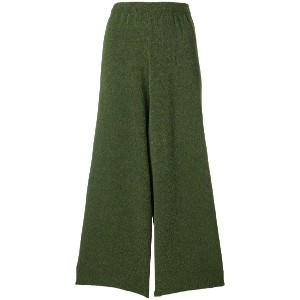 Christian Wijnants cropped knitted trousers - グリーン