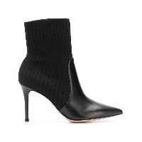Gianvito Rossi sock pointed boots - ブラック