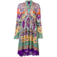 Etro paisley loose-fit dress - ピンク&パープル