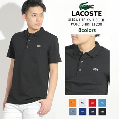 LACOSTE ULTRA LITE KNIT SOLID POLO SHIRT L1230/ラコステ メンズ 鹿の子 半袖 ポロシャツ 無地