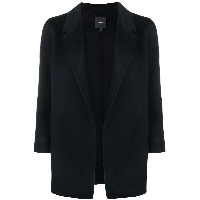 Theory draped fitted cardi-coat - ブルー