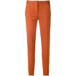 Tory Burch slim fit trousers - イエロー&オレンジ