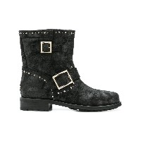 Jimmy Choo star embellished boots - ブラック