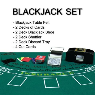 Complete All - in - OneホームスタイルブラックジャックBlackjackセット–Play at Home 。